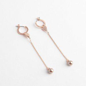 Henri Bendel Heart-shaped Tassel Pearl Earrings